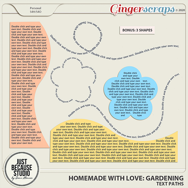 Homemade With Love: Gardening Text Paths by JB Studio