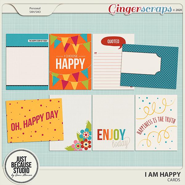 I Am Happy Cards by JB Studio