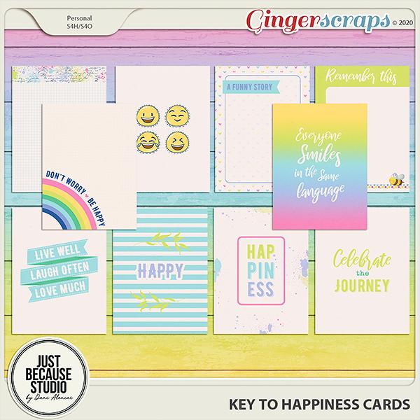 Key to Happiness Cards by JB Studio