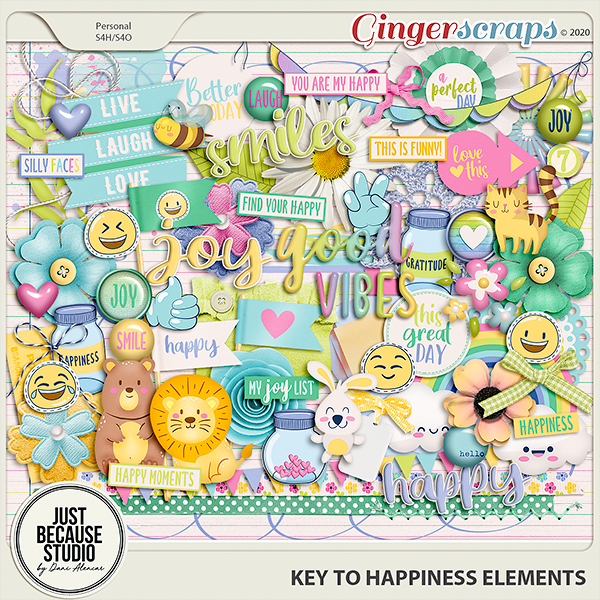 Key to Happiness Elements by JB Studio