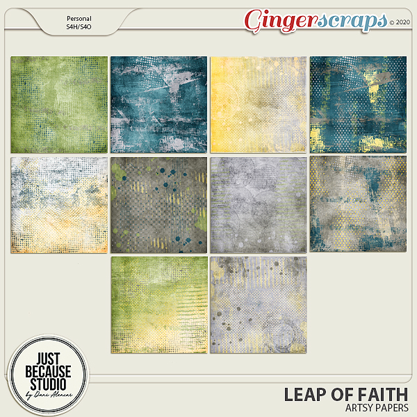 Leap Of Faith Artsy Papers by JB Studio