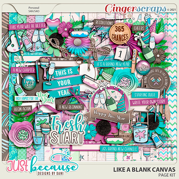 Like A Blank Canvas Page Kit by JB Studio