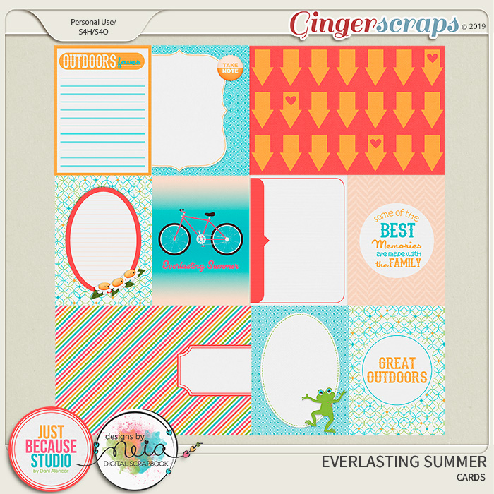 Everlasting Summer Journal Cards by JB Studio and Neia Scraps
