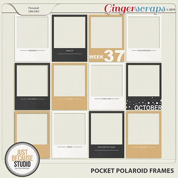 Pocket Polaroid Frames by JB Studio