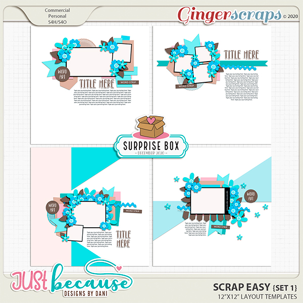 Scrap Easy 1 Templates by JB Studio