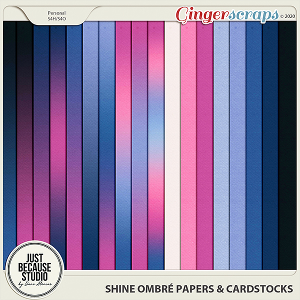 Shine Ombré Papers & Cardstocks by JB Studio