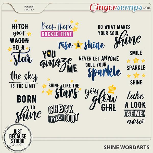 Shine Wordarts by JB Studio