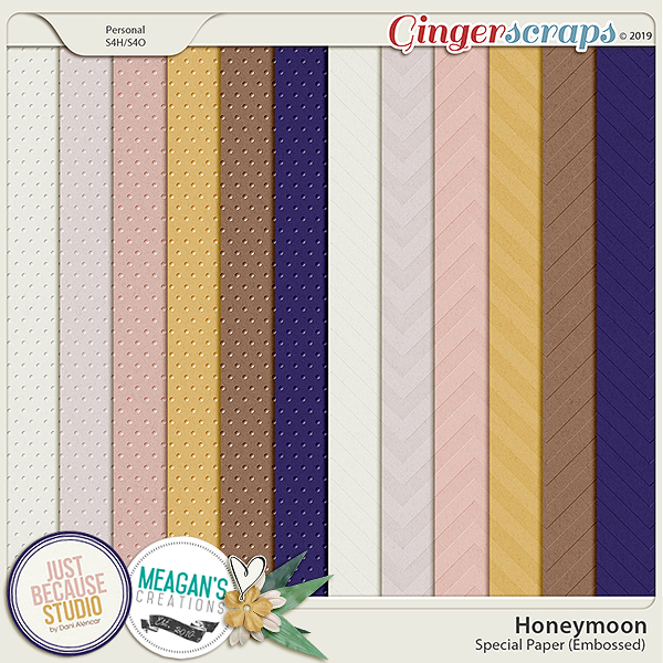 Honeymoon Special Papers by JB Studio and Meagan's Creations