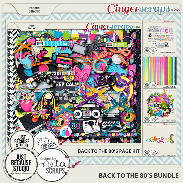 Back To The 80's Bundle by JB Studio and Neia Scraps