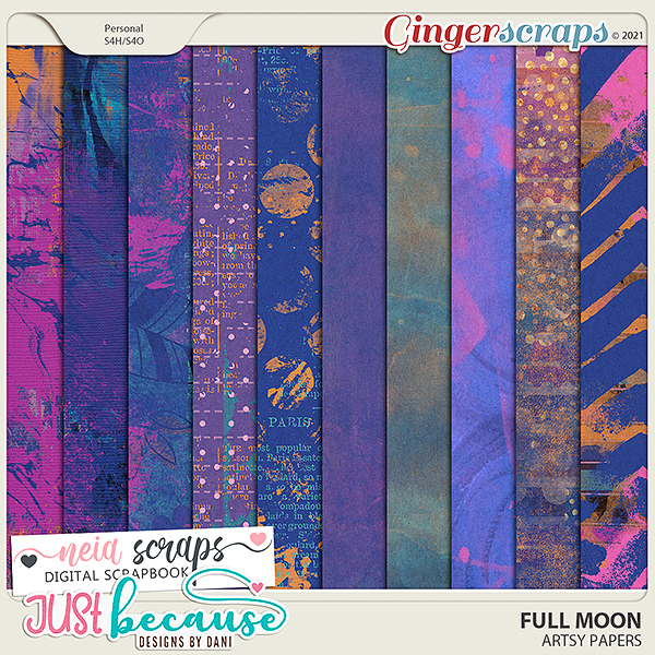 Full Moon -  Artsy Papers - by Neia Scraps and JB Studio