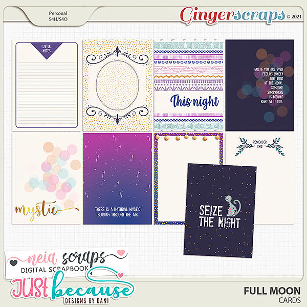 Full Moon Cards by JB Studio and Neia Scraps