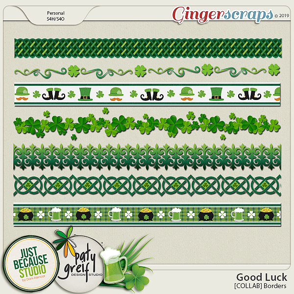 Good Luck Collab Borders by JB Studio and Paty Greif
