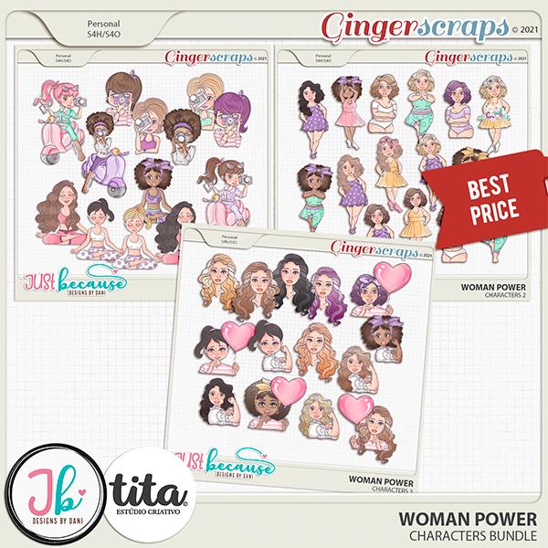 Woman Power Character Bundle by JB Studio and Tita