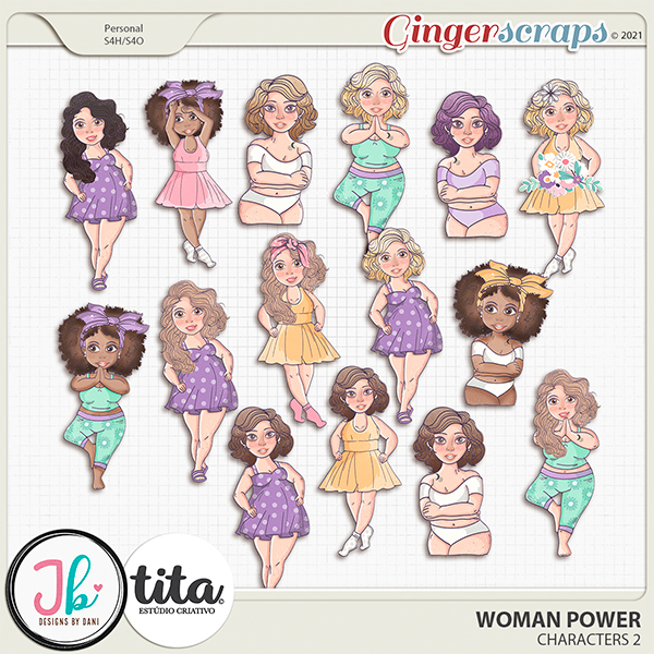 Woman Power Characters 2 by JB Studio and Tita