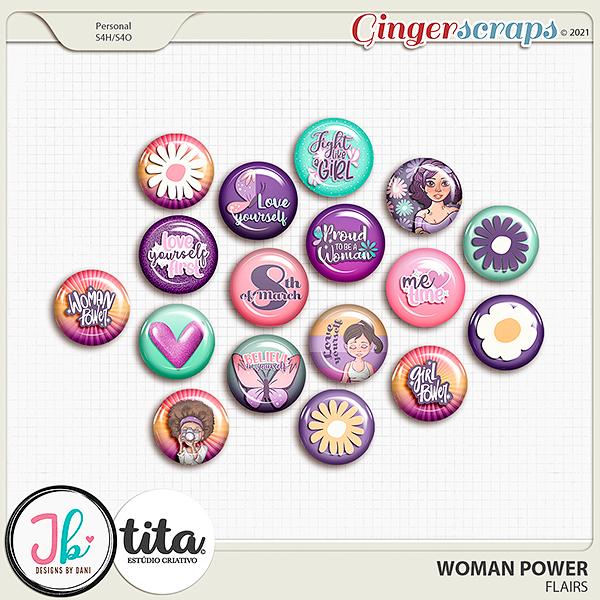 Woman Power Flairs by JB Studio and Tita