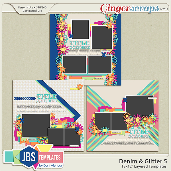 Denim & Glitter Templates 5 by JB Studio