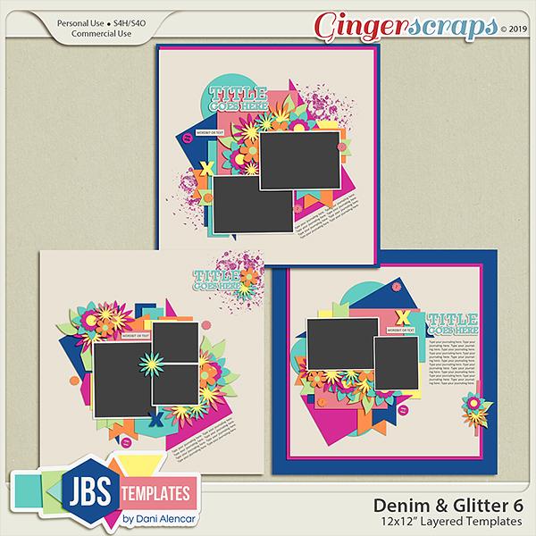 Denim & Glitter Templates 6 by JB Studio
