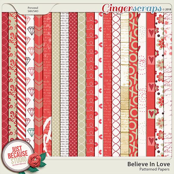 Believe In Love Papers by JB Studio
