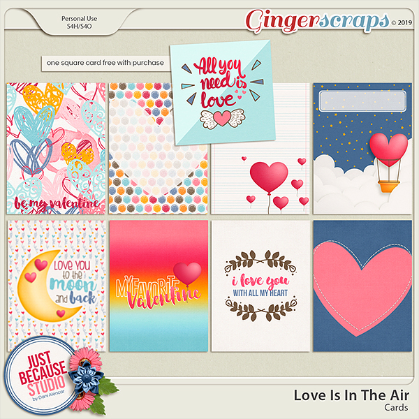 Love Is In The Air Journal Cards by JB Studio