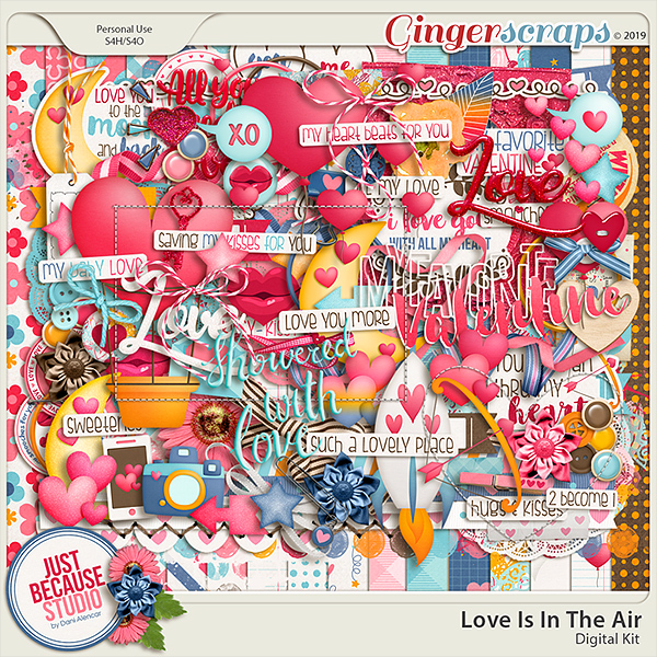 Love Is In The Air Digital Kit by JB Studio (FWP enclosed)