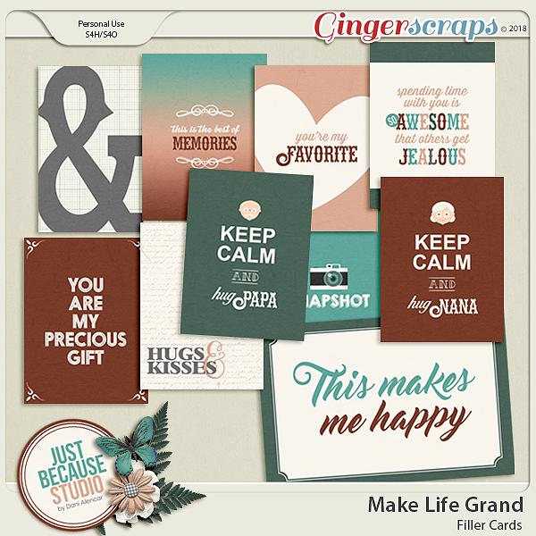 Make Life Grand Filler Cards by JB Studio
