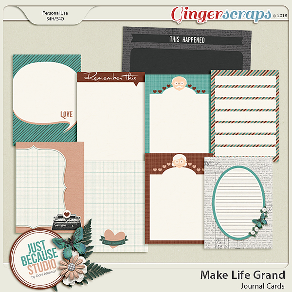 Make Life Grand Journal Cards by JB Studio