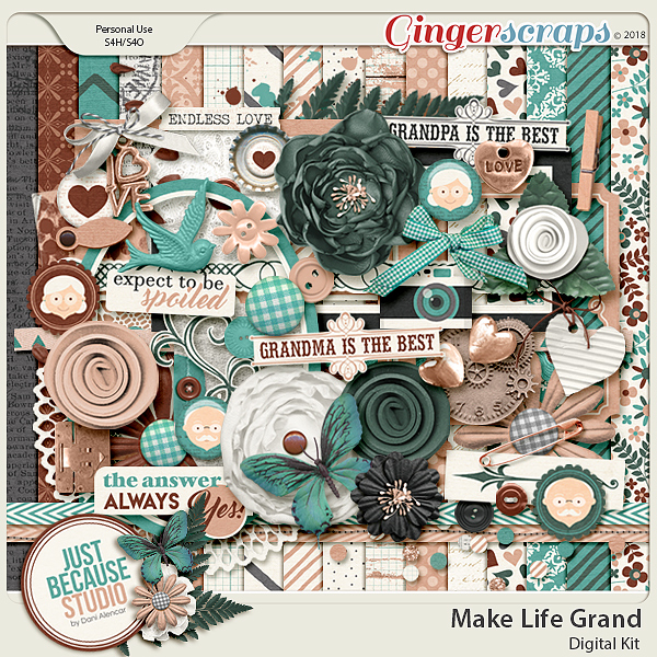 Make Life Grand Digital Kit by JB Studio