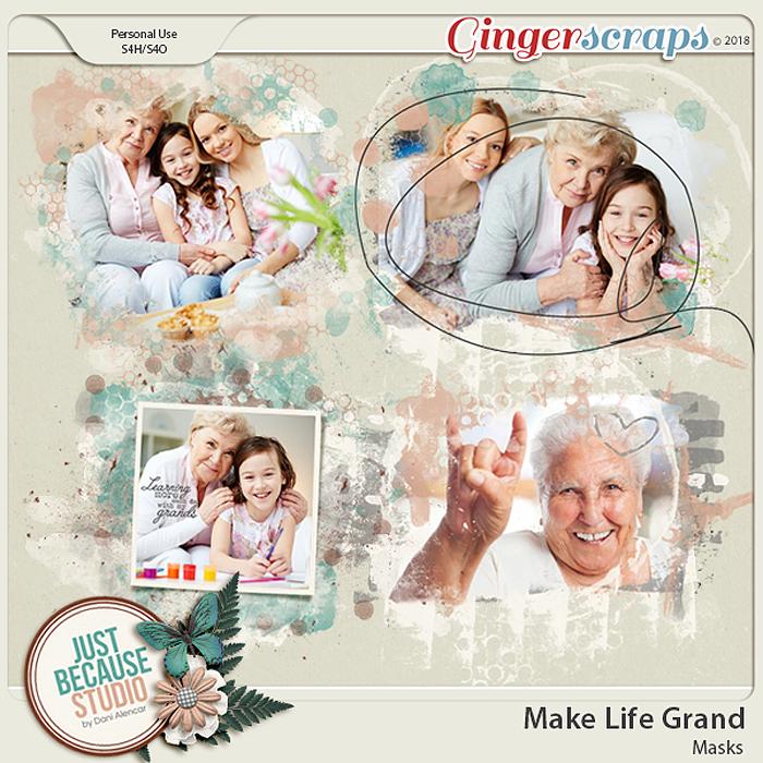 Make Life Grand Masks by JB Studio