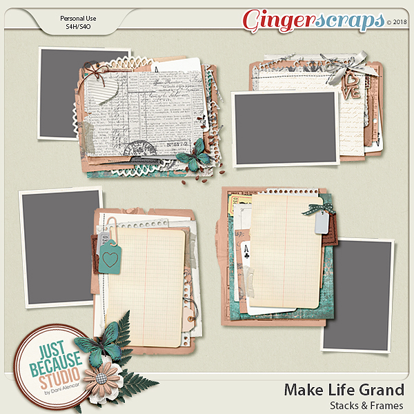 Make Life Grand Stacks and Frames Templates by JB Studio