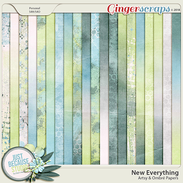 New Everything Artsy and Ombre Papers by JB Studio