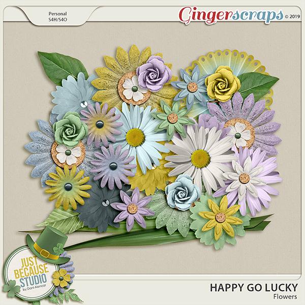 Happy Go Lucky Flowers by JB Studio