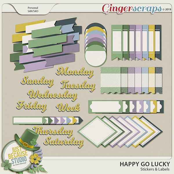 Happy Go Lucky Stickers by JB Studio