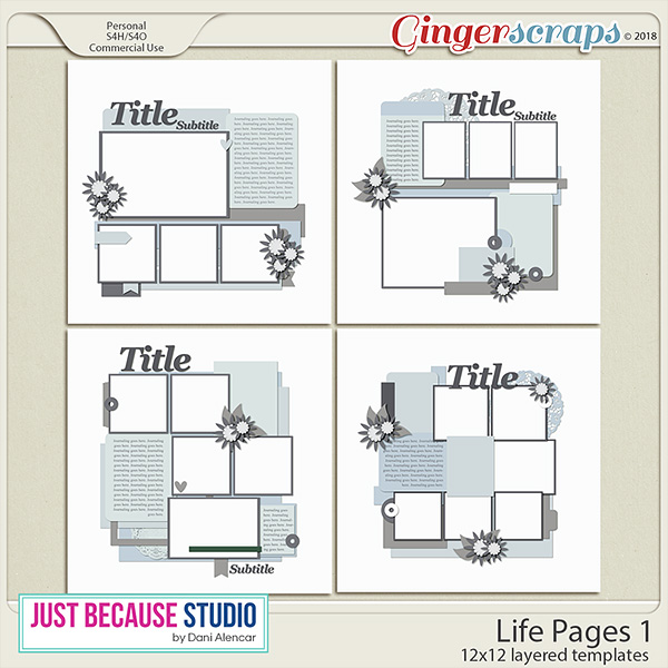 Life Pages 1 Templates by JB Studio