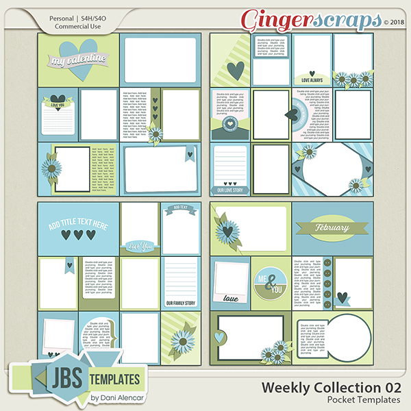 Weekly Collection 2 Pocket Templates by JB Studio