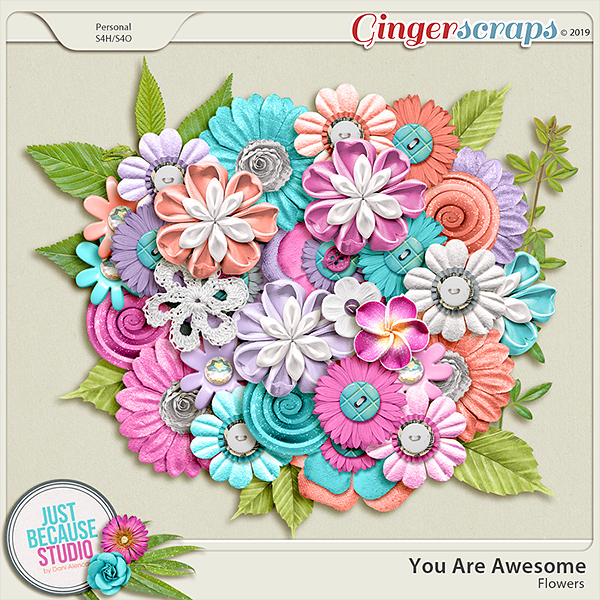 You Are Awesome Flowers by JB Studio