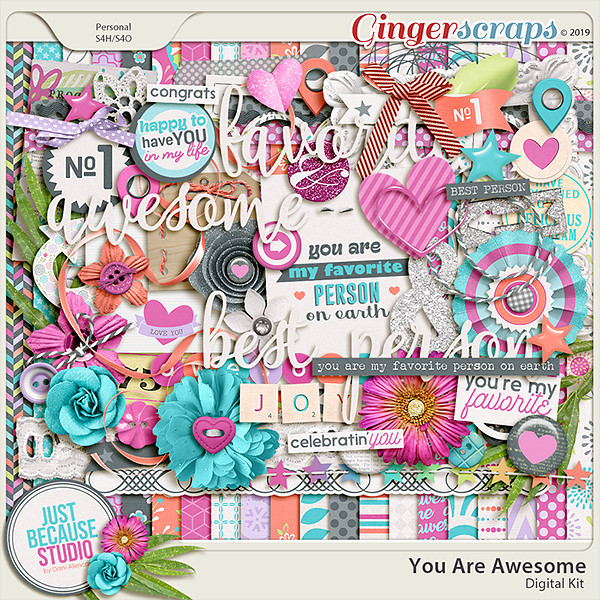 You Are Awesome Digital Kit by JB Studio