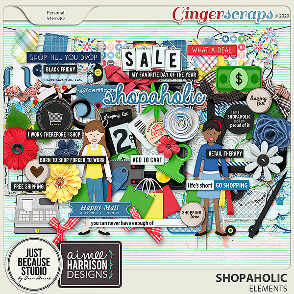 Shopaholic Elements by JB Studio and Aimee Harrison Designs