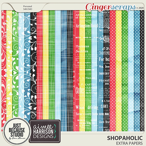 Shopaholic Extra Papers by JB Studio and Aimee Harrison Designs