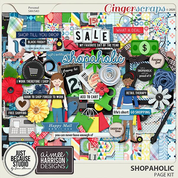 Shopaholic Page Kit by JB Studio and Aimee Harrison Designs