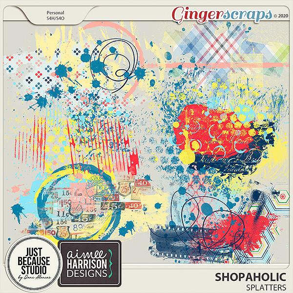 Shopaholic Splatters by JB Studio and Aimee Harrison Designs