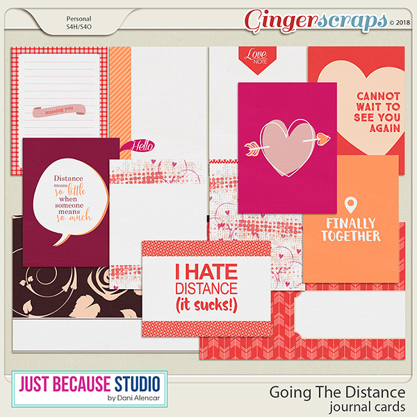 Going The Distance Journal Cards by JB Studio