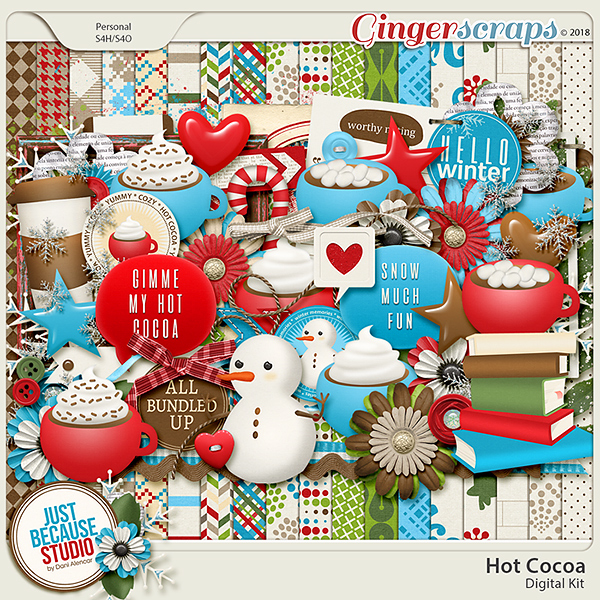Hot Cocoa Digital Kit by JB Studio