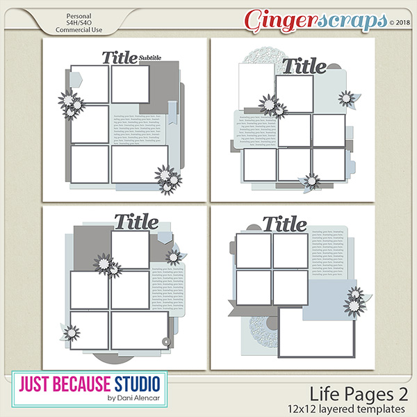 Life Pages 2 Templates by JB Studio