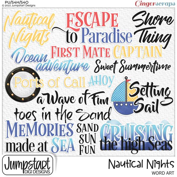 Nautical Nights {Word Art}