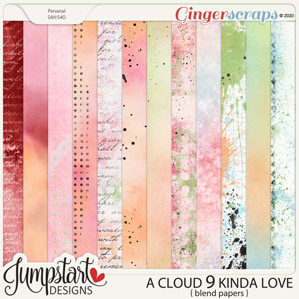 A Cloud 9 Kinda Love {Blended Papers} by Jumpstart Designs