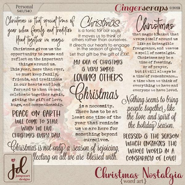 Christmas Nostalgia {Word Art}