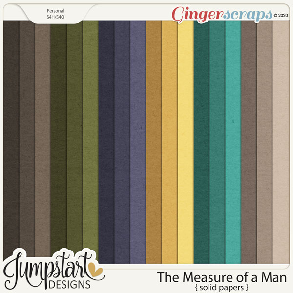 The Measure of a Man {Solid Papers} by Jumpstart Designs