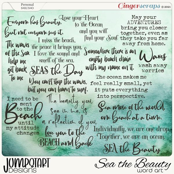 SEA the Beauty {Word Art}