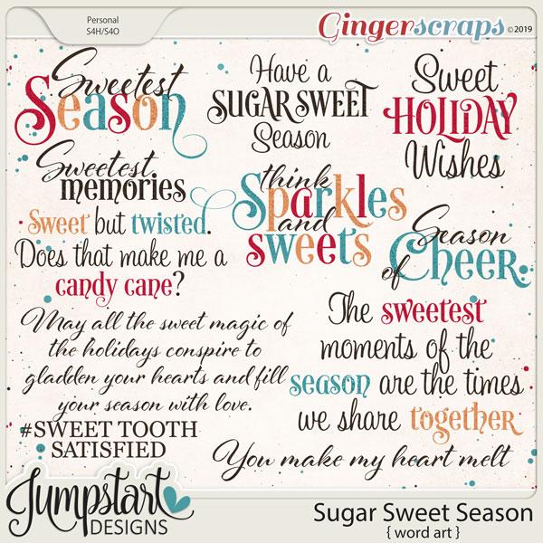 Sugar Sweet Season {Word Art} by Jumpstart Designs