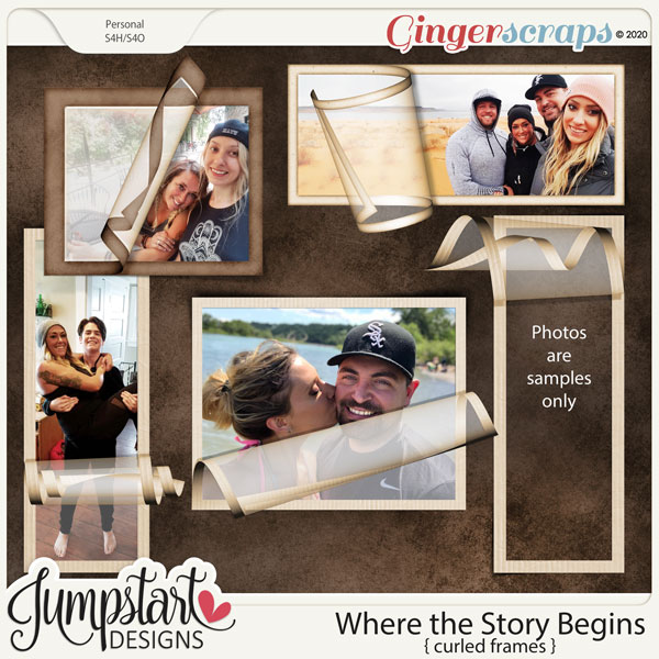 Where the Story Begins {Curled Frames}